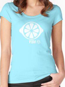VW TDI Lemon Slice Black White Women's Fitted Scoop T-Shirt