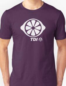 VW TDI Lemon Slice Black White T-Shirt