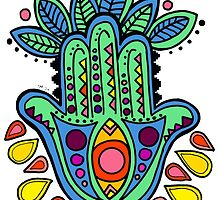 Colorful Hamsa by coreybloomberg
