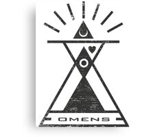Omens - Typography and Geometry Canvas Print