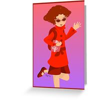 The Woman in Red Greeting Card
