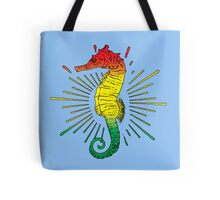 Seahorse with Reggae Music Flag Colors! Tote Bag