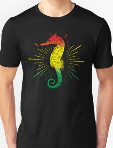 Seahorse with Reggae Music Flag Colors! T-Shirt