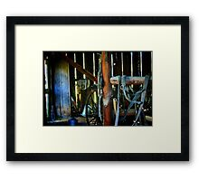 In the Old Barn Framed Print