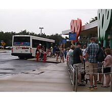 Buses at Disney's Pop Century Resort Photographic Print