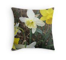 Debating Daffodils Throw Pillow