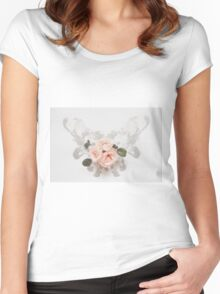 Roses and wings Women's Fitted Scoop T-Shirt