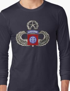 82nd Airborne Division Patch with Jumpwings. Long Sleeve T-Shirt