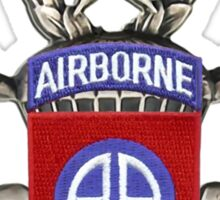 82nd Airborne Division Patch with Jumpwings. Sticker