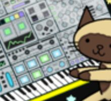 Modular Synth Cat Sticker