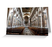 Nave Of St. Andrew's Cathedral Greeting Card