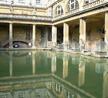Roman Baths, Bath England by Adrienne Bartl
