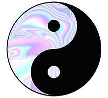 Psychedelic Yin Yang Photographic Print