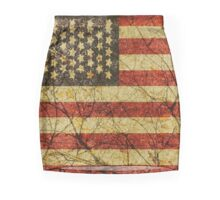 Vintage Grunge American Flag Mini Skirt