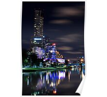 Southbank By Night - Melbourne, Australia Poster