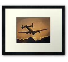 The Old Grey Lady: Avro Shackleton, 8 Squadron, 1990 Framed Print