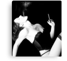 Smoke & Seduction - Self Portrait Canvas Print