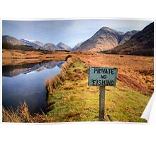 Private, no fishing... Glen Etive Poster