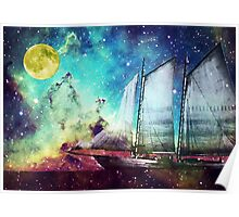 Galileo's Dream - Schooner Art By Sharon Cummings Poster