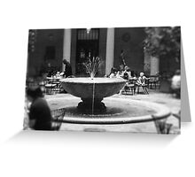 Fountain in Nelson Atkins Museum, Black and White Greeting Card