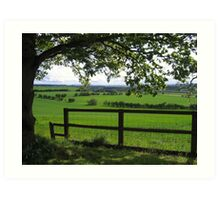 How green is my Valley... Art Print