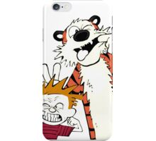 calvin and hobbes face iPhone Case/Skin