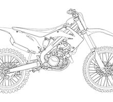 Motocross bike by Richard Heyes