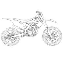 Motocross bike Photographic Print