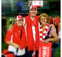 Keen Sydney Swan Supporters. Photographic Print