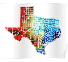 Texas Map - Counties By Sharon Cummings Poster
