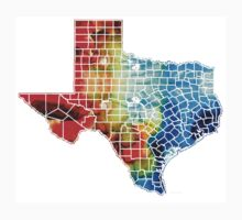 Texas Map - Counties By Sharon Cummings One Piece - Short Sleeve