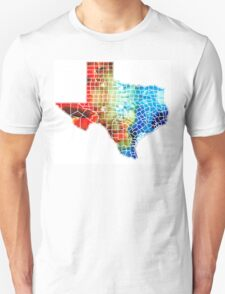 Texas Map - Counties By Sharon Cummings Unisex T-Shirt