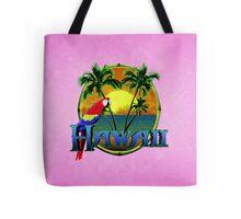 Hawaii Sunset Pink Tote Bag