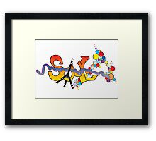 Soul graffiti Framed Print