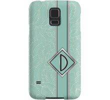 1920s Blue Deco Swing with Monogram letter D Samsung Galaxy Case/Skin
