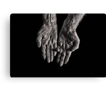 Old Womans Hands Canvas Print