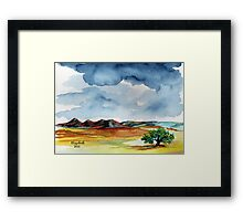 *Rain Quote* (without a raincoat) Framed Print