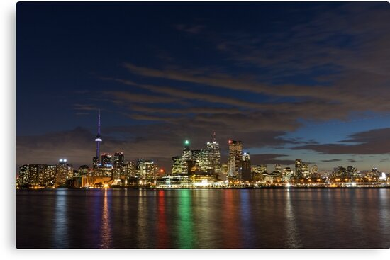 Toronto's Dazzling Skyline Across the Lake by Georgia Mizuleva