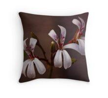Pelargonium fragrans Throw Pillow