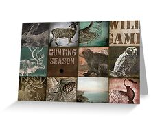 Hunting Season Patchwork Greeting Card