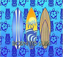Born To Surf Tiki by BailoutIsland