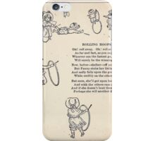 Miniature Under the Window Pictures & Rhymes for Children Kate Greenaway 1880 0041 Rolling Hoops iPhone Case/Skin