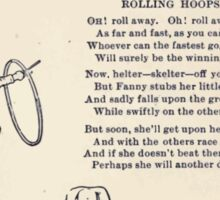 Miniature Under the Window Pictures & Rhymes for Children Kate Greenaway 1880 0041 Rolling Hoops Sticker