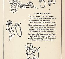Miniature Under the Window Pictures & Rhymes for Children Kate Greenaway 1880 0041 Rolling Hoops by wetdryvac