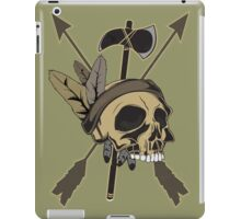 Indian Skull - Native American Skull with Feather and Arrows iPad Case/Skin