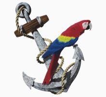 Parrot And Ship Anchor by BailoutIsland