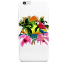Parrot And Palm Trees iPhone Case/Skin