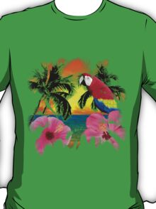 Parrot And Palm Trees T-Shirt