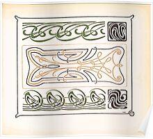 Maurice Verneuil Georges Auriol Alphonse Mucha Art Deco Nouveau Patterns Combinaisons Ornementalis 0021 Poster