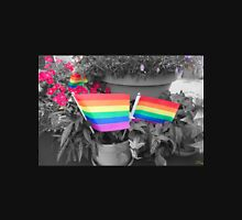 Rainbow Flags and Flowers Unisex T-Shirt